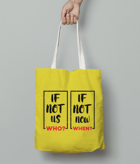 If not us who tote bag front