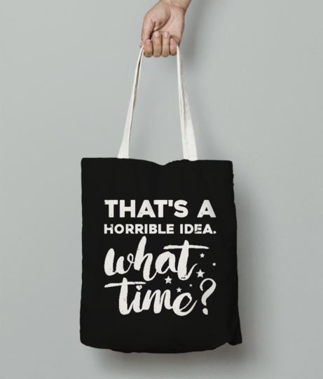 Horrible tote bag front