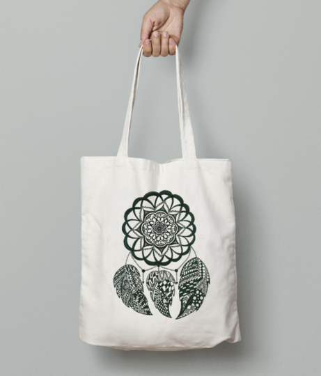 Dreamcatcher tote bag front