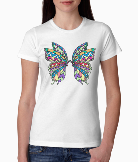 Butterfly collage tee front