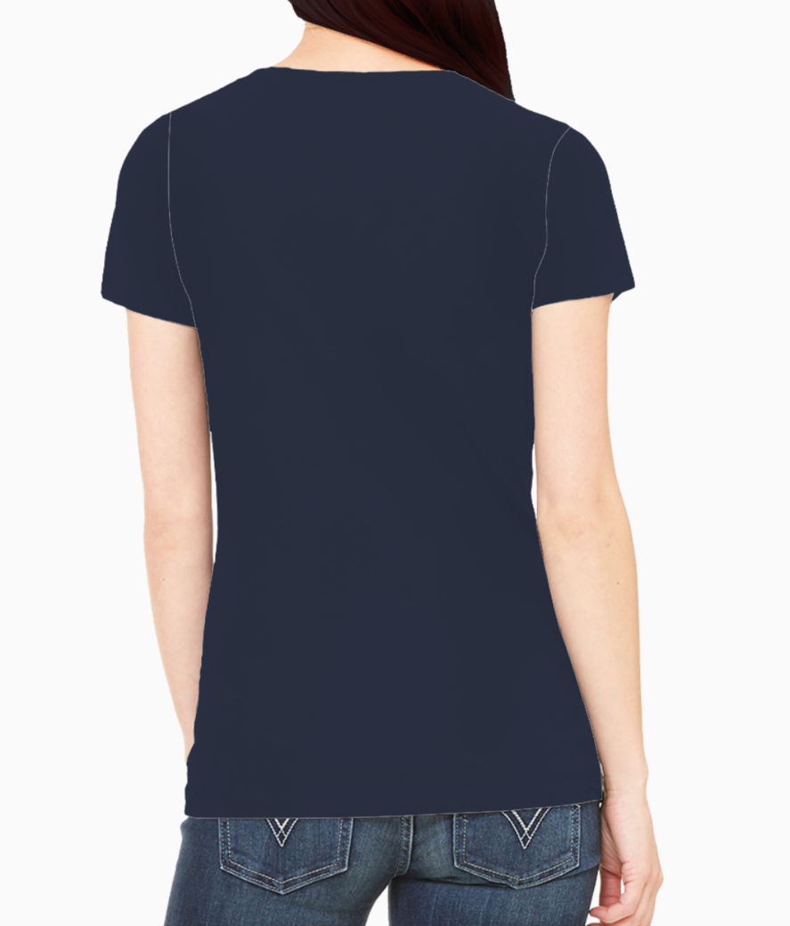 Colorful face abstract tee back