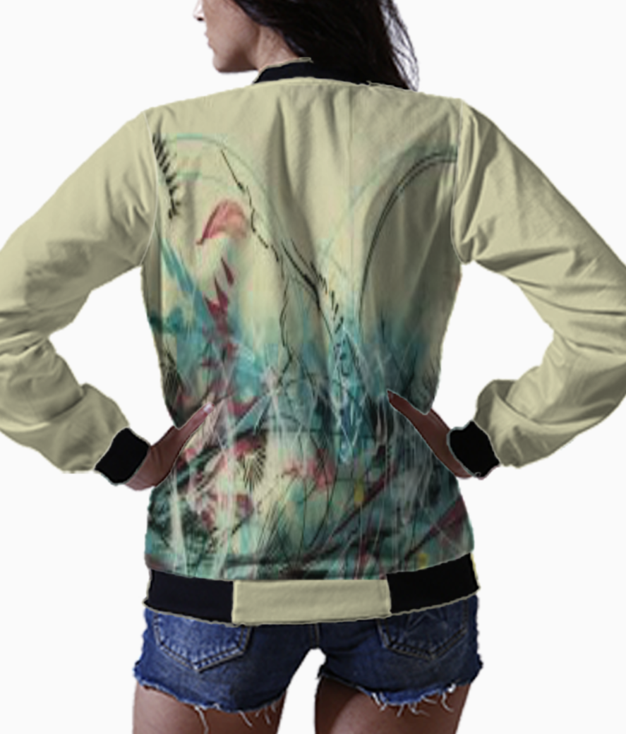 Abstract bomber back