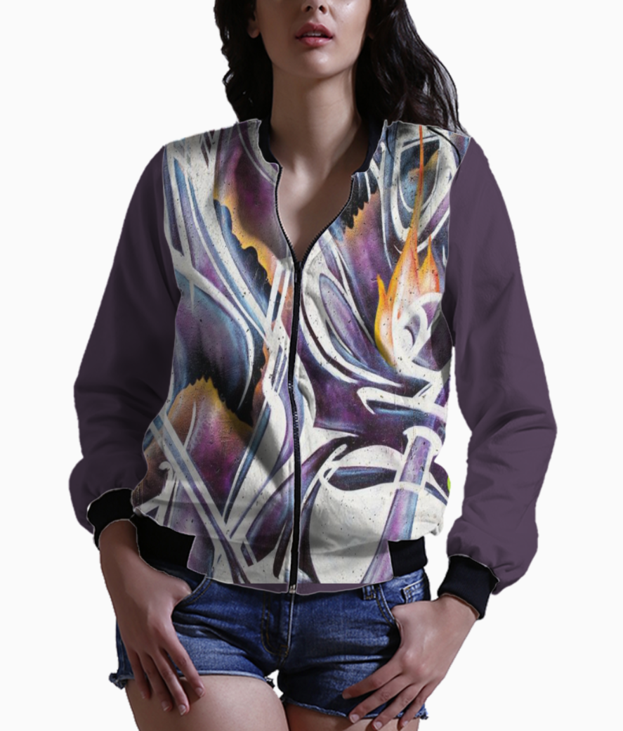 White and magenta bomber front