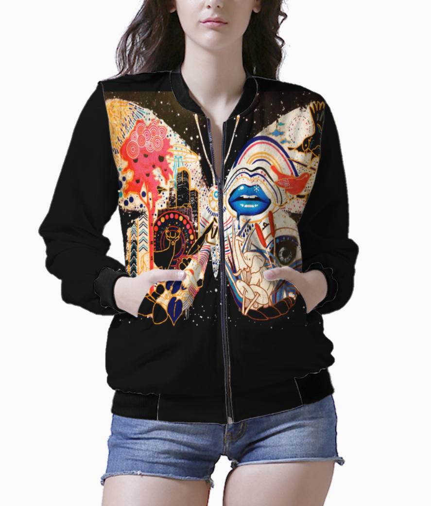 Abstract butterfly bomber front