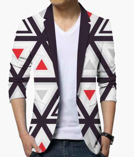Geometry triangle blazer front