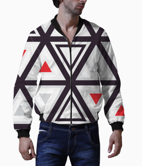 Geometry triangle bomber front