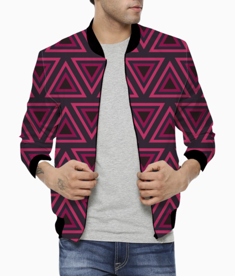Tribal triangle bomber front