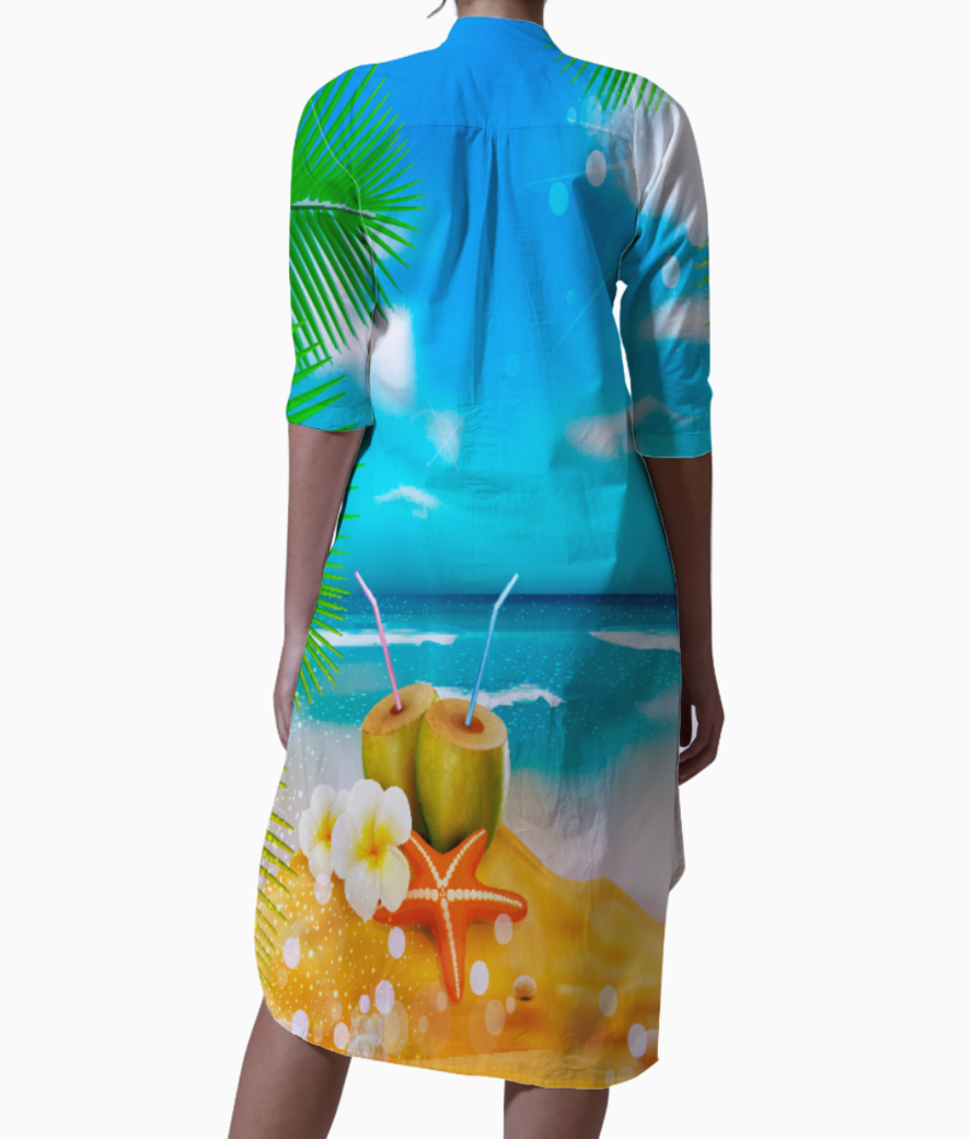 Tropical beach1 kurti back