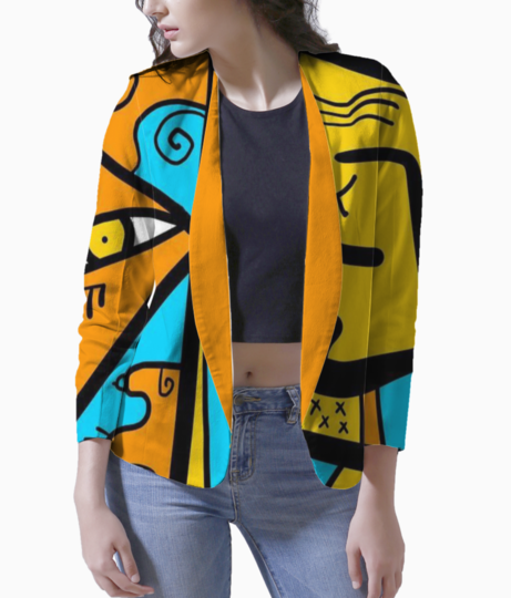 Abstract stroke blazer front