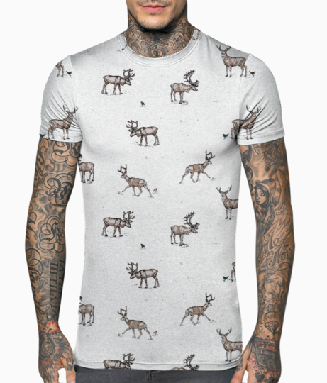 Conversational festive christmas reindeer stag country festive 01 t shirt front