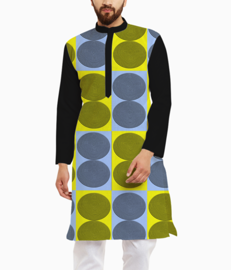 Optical illusion kurta front