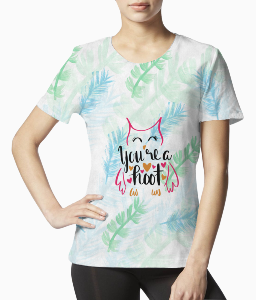 You are a hoot tee front