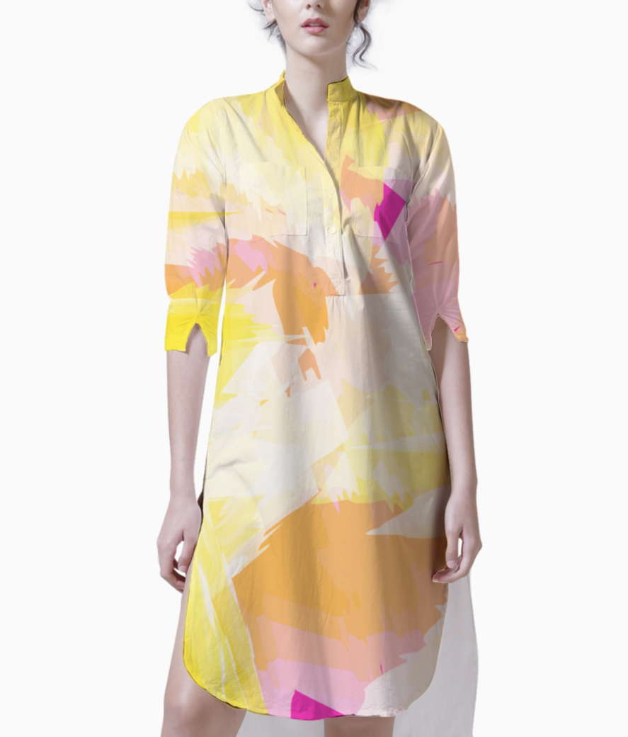 Watercolour effect kurti front