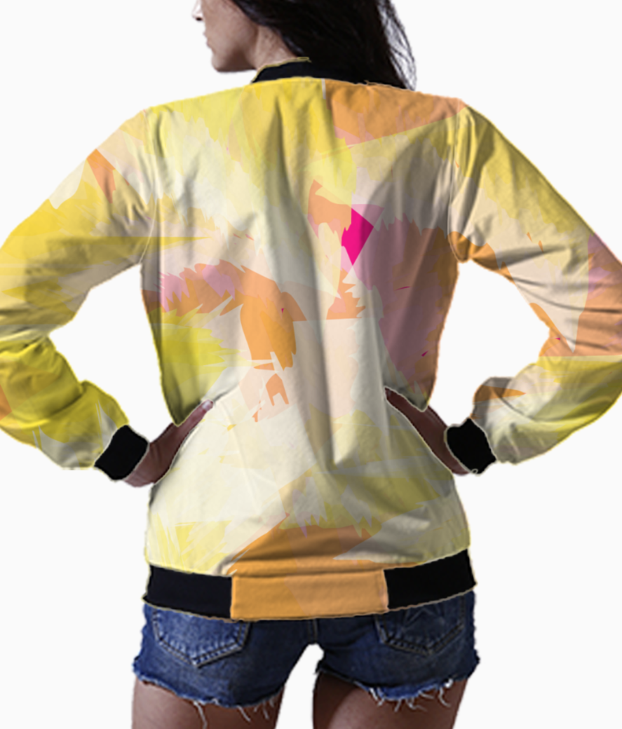 Watercolour effect bomber back