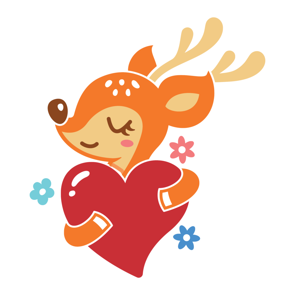 Reindeer in love