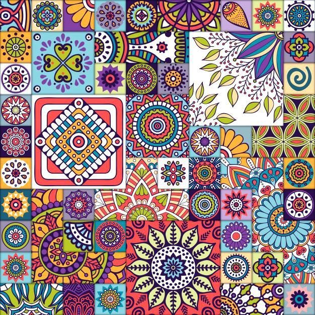 Moroccan design pattern with mandalas free vector moroccan inspired rugs uk