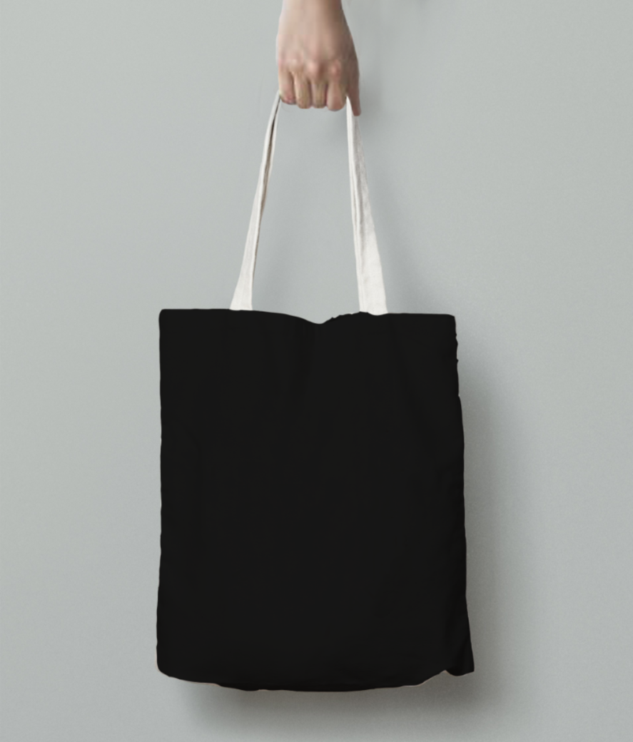 Good vibes only tote bag back