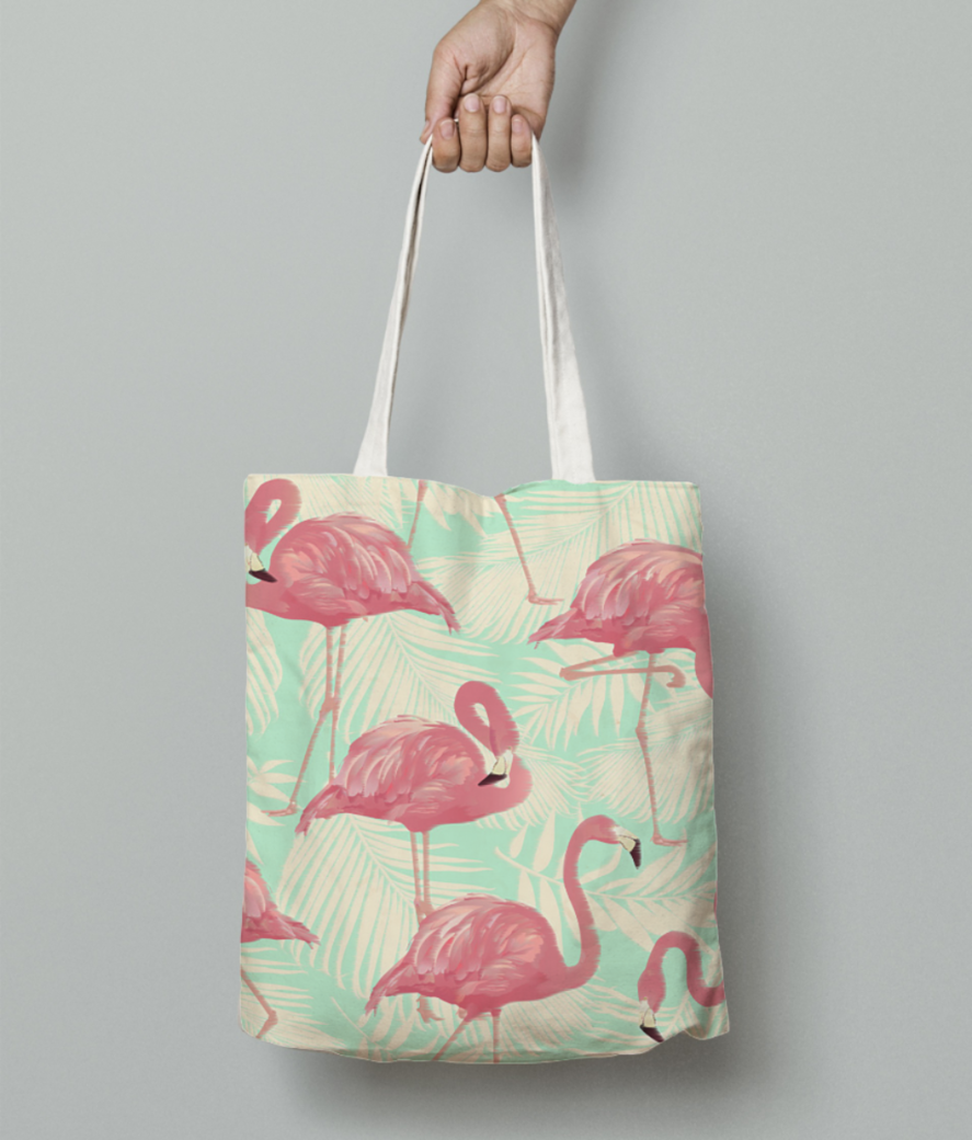 Flamingo tote bag front