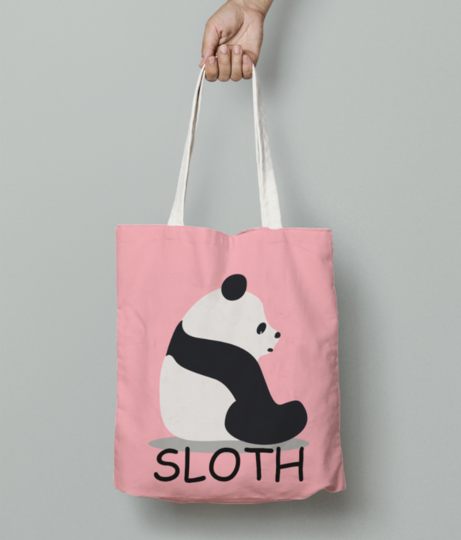 Sloth tote bag front