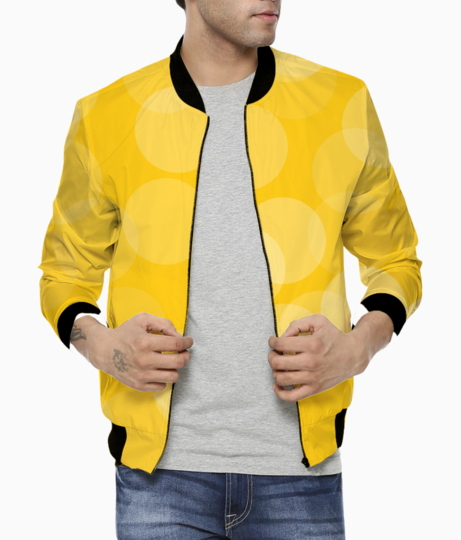 Circle design bomber front