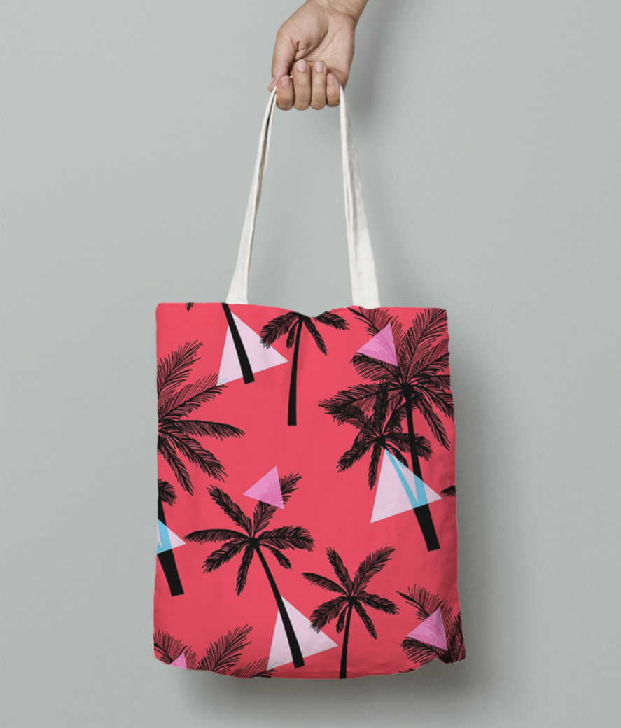 Tropical tote bag front