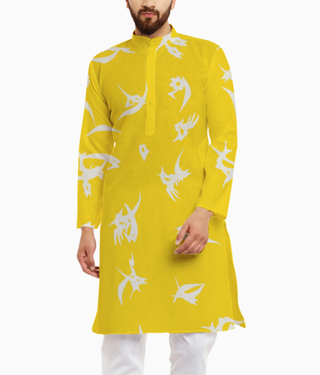 Yellow kurta front
