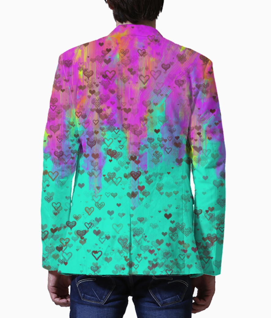 Rainbow blazer back