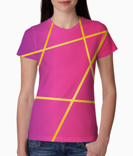 Abstract lines tee front