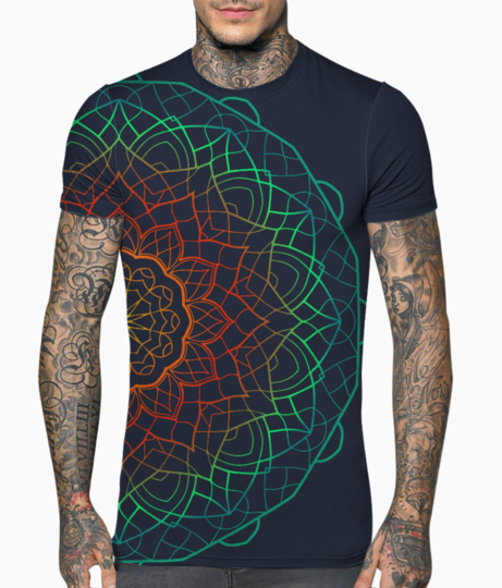 Mandala 2 colour 01 t shirt front