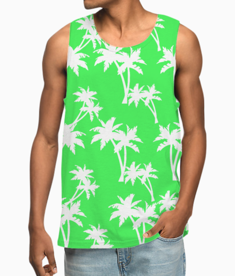 Hello palm trees vest front