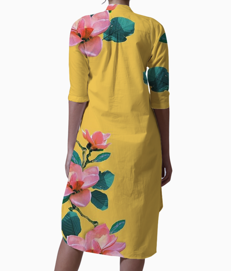 Oil painted floral kurti back