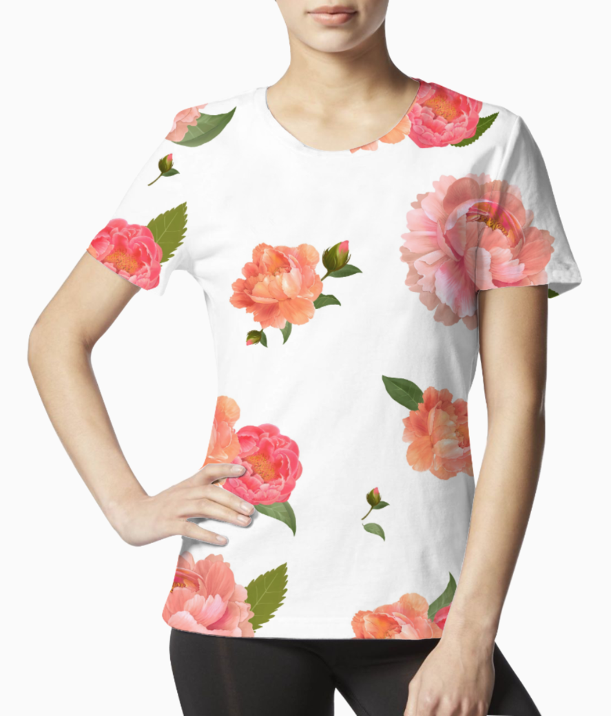 Floral 3 tee front