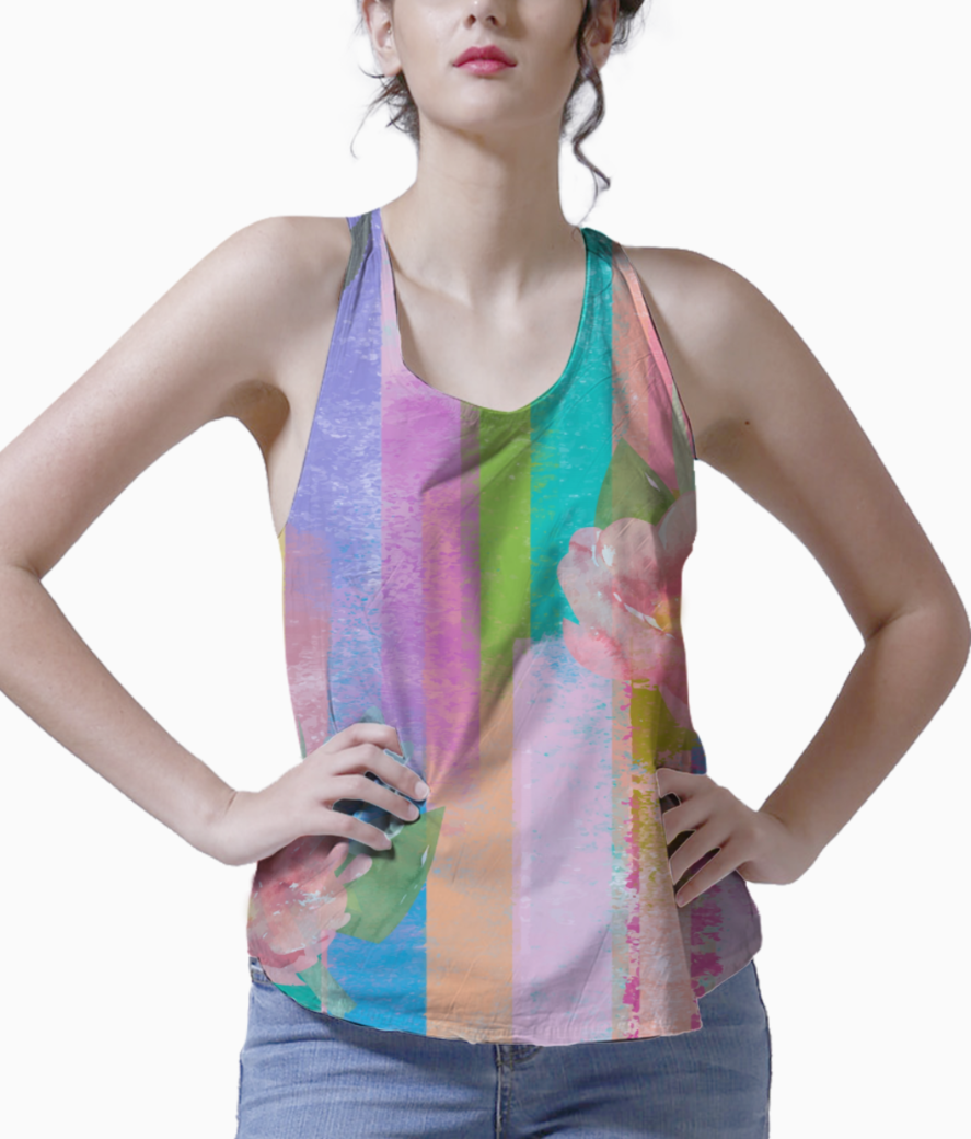 Floral 5 tank front