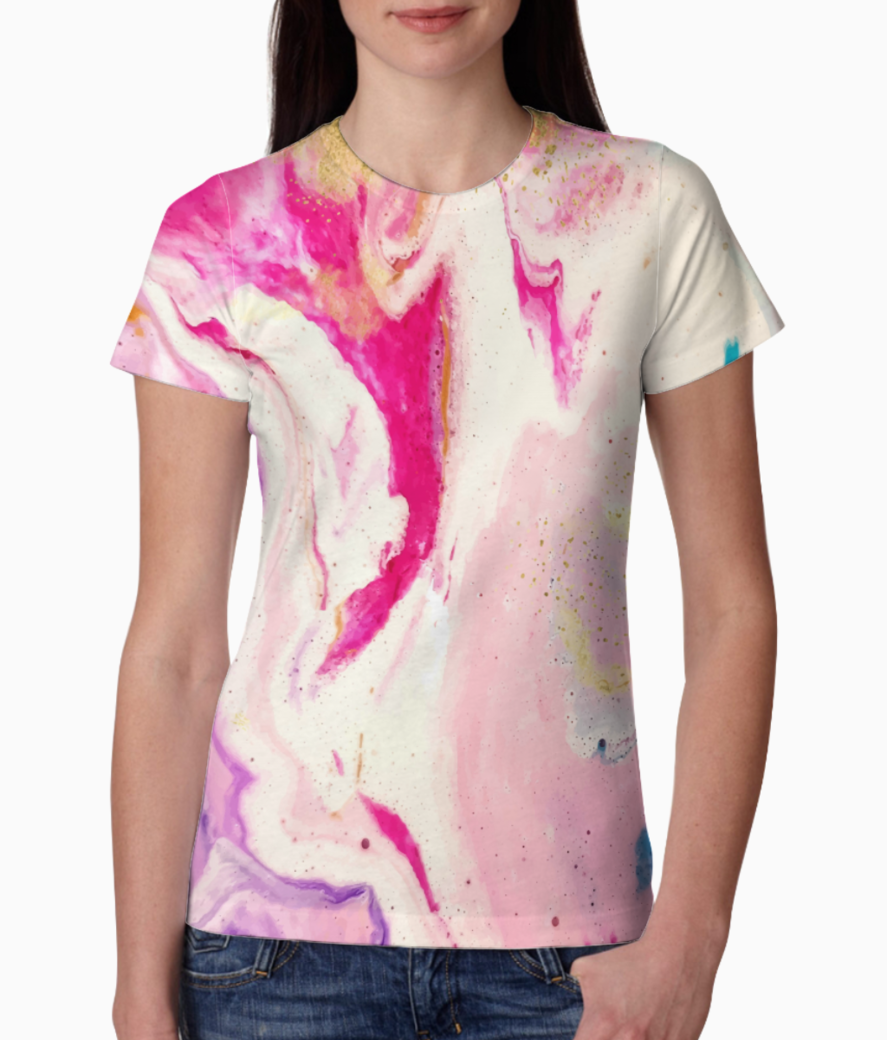 Floral 7 tee front