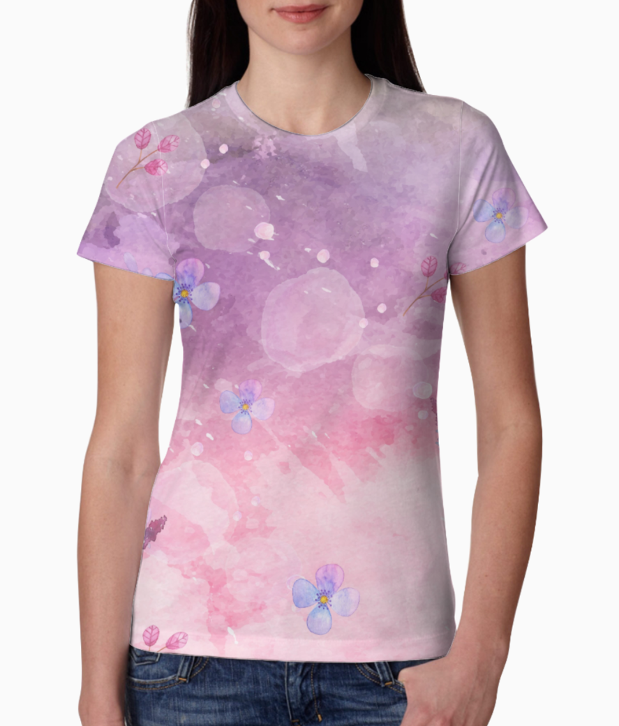 Floral 11 tee front