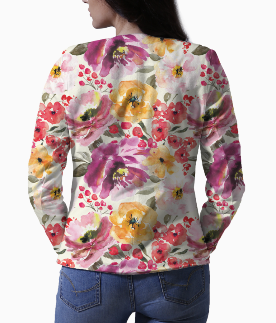 Rrrrrrfall floral pattern saturated shop preview blazer back