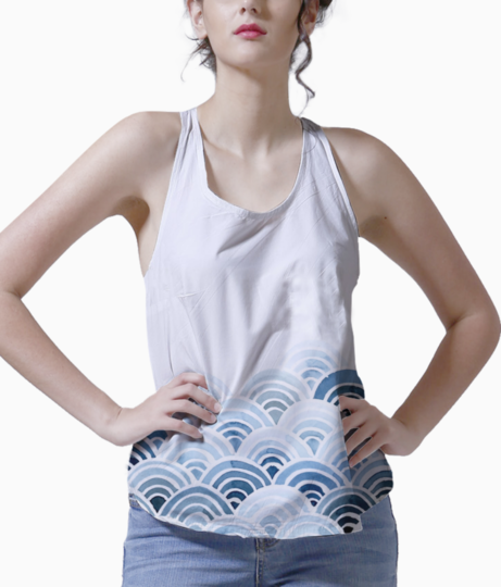 Blue watercolor background tumblr 11 tank front