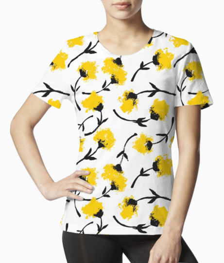 Yellow flower tee front