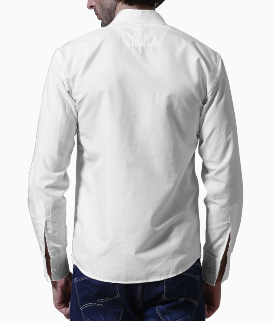 Lotus white basic shirt back