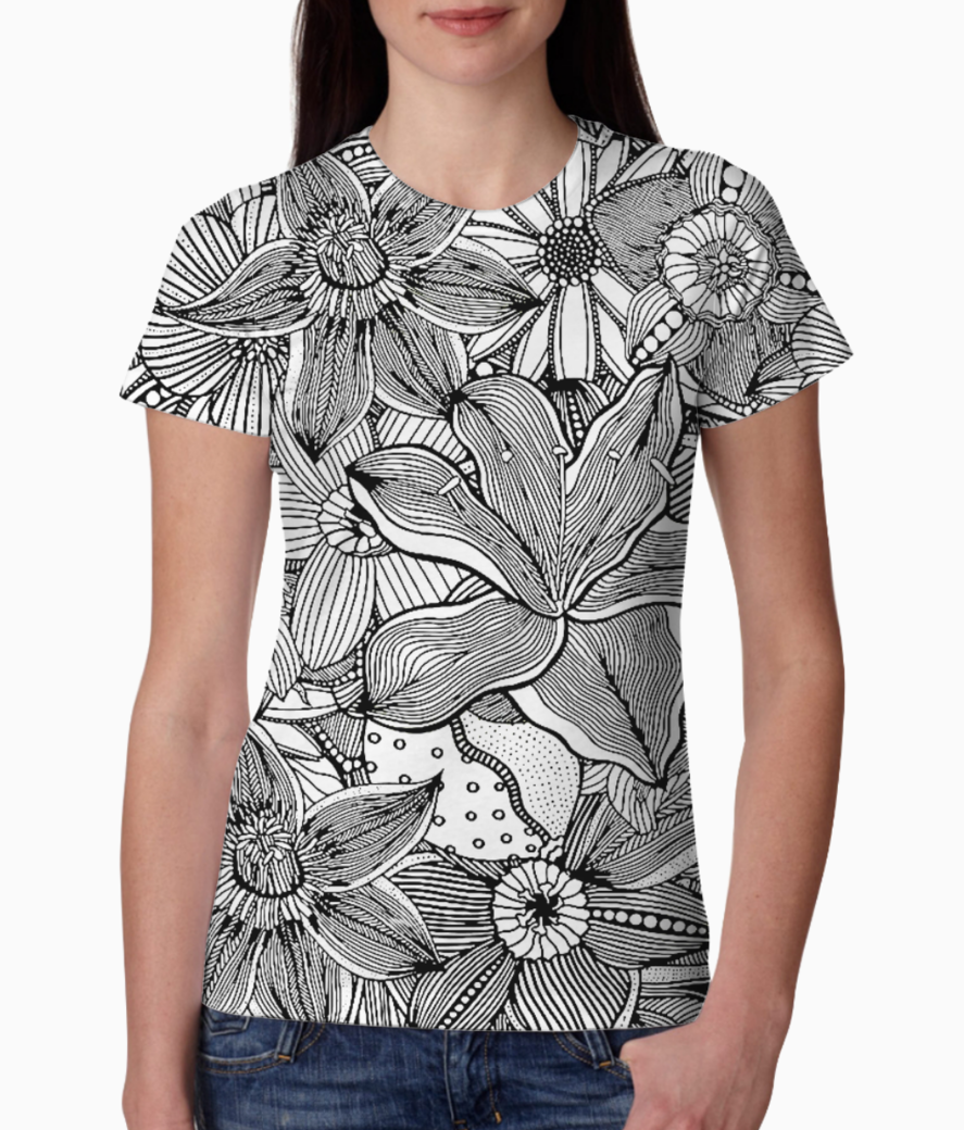 Flowers 188 03  tee front