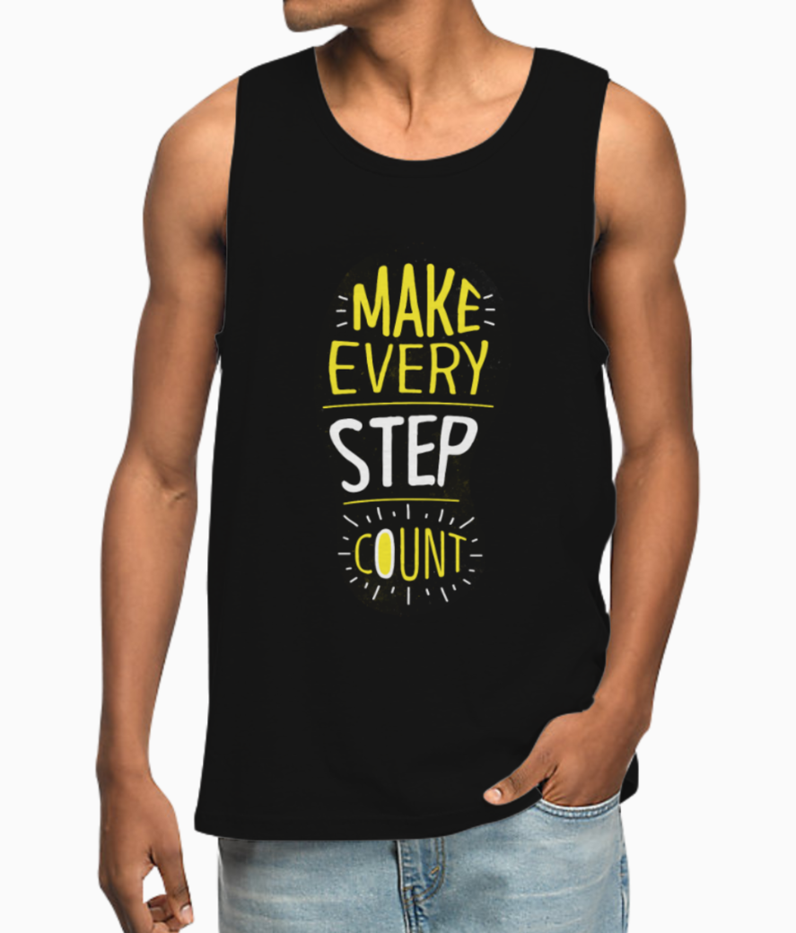Make every step count vest front