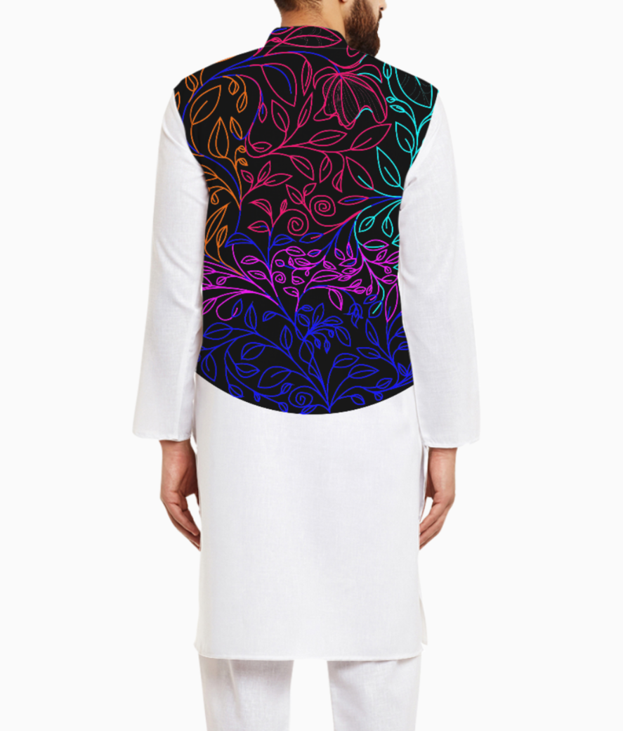 Floral color kurta back