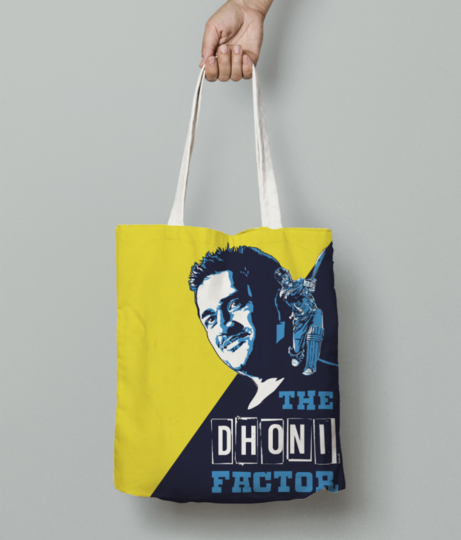 Dhoni 1 tote bag front
