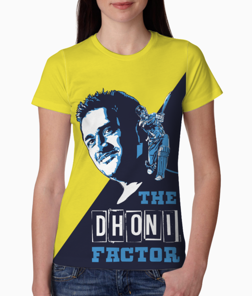 Dhoni 1 tee front