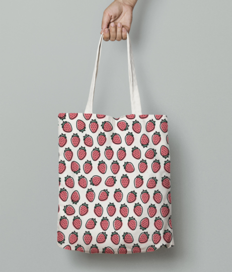 Strawberry tote bag front