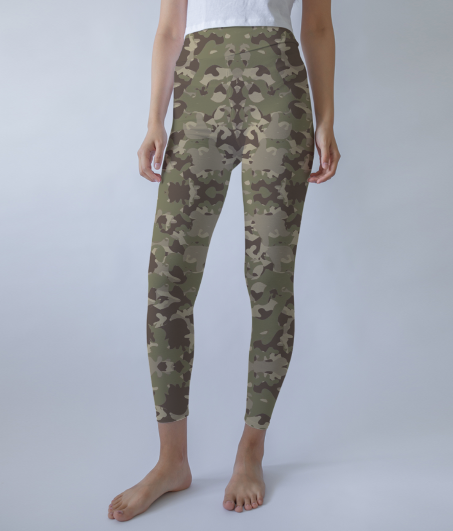 Camou leggings front