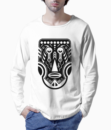 African tattoo henley front
