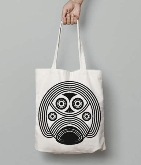 Stormtrooper tribal tote bag front