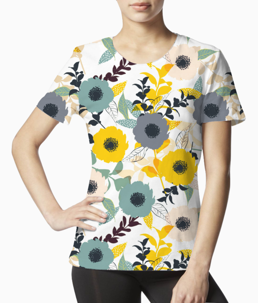 Floral pattern 44285 671 tee front