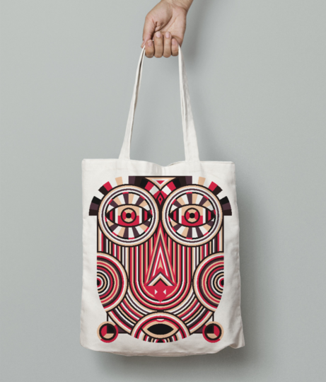 Abstract ancient tote bag front